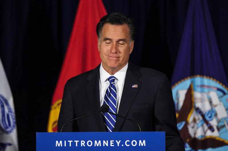 Mitt Romney Campaigns In Springfield Virginia Pete Marovich