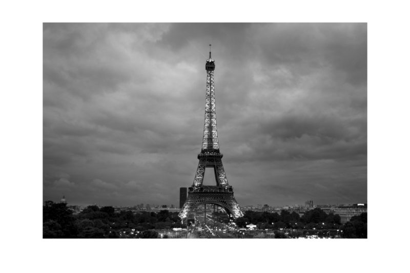 Stormy weather over the Eiffel Tower in Paris, France.Date: August 18, 2013.