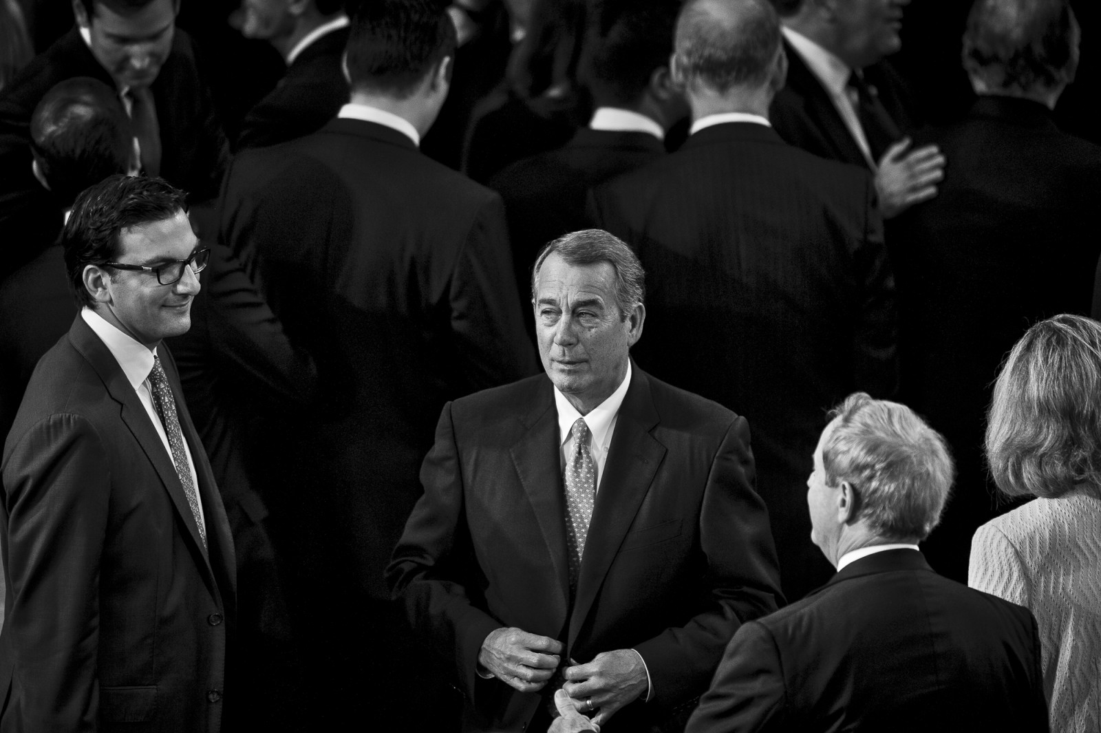 The day before he is to retire from Congress, Speaker of the House John Boehner (R-OH) prepares to deliver his farewell address to the House of Representatives on October 29, 2015 in Washington, D.C. Following his address, the House of Representatives will vote on Boehner's replacement for Speaker. Photo by Pete Marovich/UPI